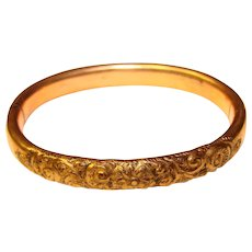 Gorgeous Antique Gold Filled Hinged Child's Bangle Bracelet