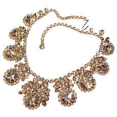 Fabulous D&E JULIANA Large Clear Rhinestone Vintage Necklace