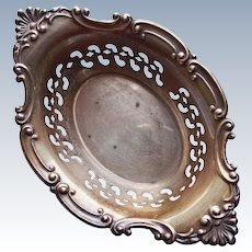 Gorgeous GORHAM STERLING Antique Dish - Candy or Nut Cup - Cromwell Pattern Pierced