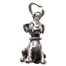 Sterling DALMATIAN DOG Disney Vintage Estate Charm - 101 Dalmatians