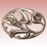 Gorgeous DANECRAFT STERLING Signed Vintage Calla Lily Design Brooch
