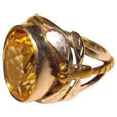 Fabulous Sterling DRAGONFLY Design Bezel Set Stone Ring