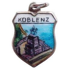 800 Silver & Enamel Koblenz Vintage Estate Charm - Souvenir of Germany