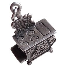 Sterling STOVE Vintage Estate Charm