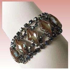 Fabulous SAPHIRET Aurora Rhinestone Vintage Bracelet