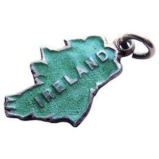 Sterling & Enamel IRELAND Vintage Charm - Travel Souvenir
