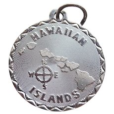 Sterling HAWAIIAN ISLANDS Vintage Estate Charm - Souvenir of Hawaii