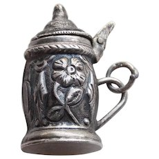 Awesome 830 Silver Stein Mechanical Movable Vintage Estate Charm