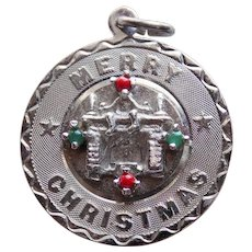 Sterling MERRY CHRISTMAS Vintage Estate Charm