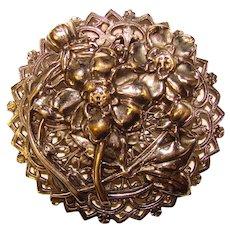 Gorgeous Filigree Design Flower Motif Vintage Dress Clip Brooch