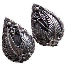 Fabulous STERLING Southwestern Signed Vintage Earrings - Pierced