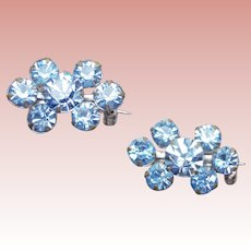Tiny Ice Blue Rhinestone Scatter Pins - Brooches for your Doll or Lapel