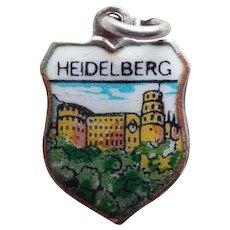 800 Silver & Enamel HEIDELBERG Vintage Estate Charm - Souvenir of Germany