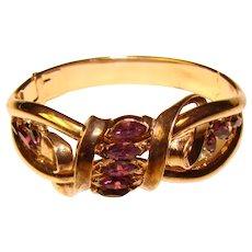 Fabulous TRIFARI Signed Purple Rhinestone Vintage Bracelet