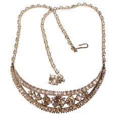 Fabulous BOGOFF Signed Vintage Rhinestone Necklace