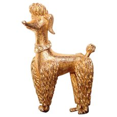 Awesome BOUCHER Signed Poodle Dog Vintage Brooch