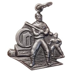 Sterling CINCINNATI RED STOCKINGS Baseball Vintage Charm - Souvenir of Ohio