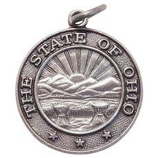 Sterling OHIO STATE SEAL Vintage Charm - Travel Souvenir