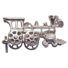 Beau Sterling TRAIN Mechanical Vintage Estate Charm - Movable Wheels