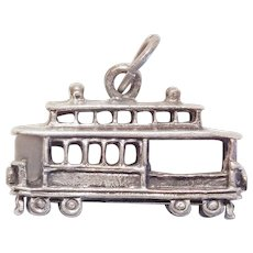 Beau Sterling CABLE CAR Vintage Estate Charm