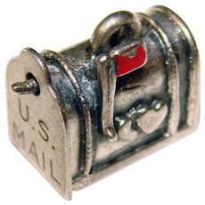 Awesome BEAU STERLING Love Letter Mailbox Mechanical Vintage Charm