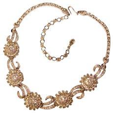 Fabulous PENNINO Signed Rhinestone Vintage Necklace