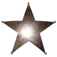 Awesome Signed STERLING Vintage Star Shaped Pendant Brooch