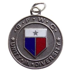 Awesome GFWC STERLING & ENAMEL Vintage Charm - Unity in Diversity - General Federation of Women's Clubs