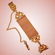 Fabulous Antique WATCH CHAIN Vest Clip Fob Chain