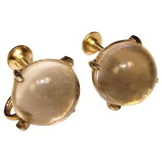 Awesome CORO Signed Jelly Belly Vintage Earrings