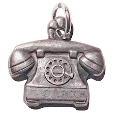 Sterling ROTARY PHONE Vintage Charm - Telephone