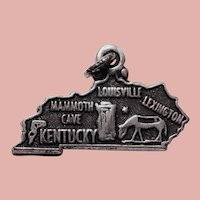 Sterling KENTUCKY Vintage Charm - State Travel Souvenir - Signed Maisels