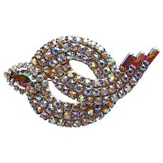 Gorgeous AURORA RHINESTONE Vintage Estate Brooch