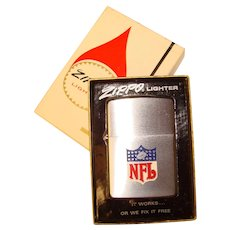Fabulous 1970's ZIPPO Lighter NFL Football Design - Original Box and Papers