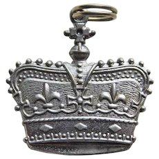 Sterling CROWN Vintage Charm - Larger Size