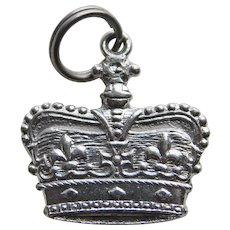 Sterling CROWN Vintage Charm - Smaller Size