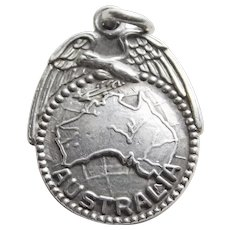 Sterling AUSTRALIA Vintage Estate Charm - Travel Souvenir