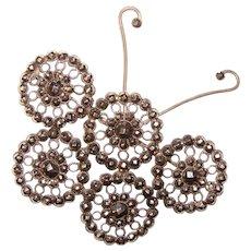 Fabulous Antique CUT STEEL Butterfly Design Brooch