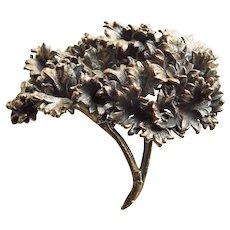 Fabulous NORDENS FLORA Vintage Leaf or Flower Brooch - Denmark Signed