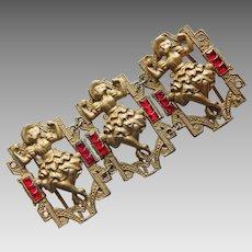 Gorgeous CAN CAN DANCERS Art Deco Slide Buckle or Belt Decoration
