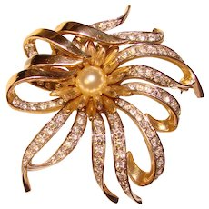 Gorgeous BOUCHER Signed Rhinestone Brooch