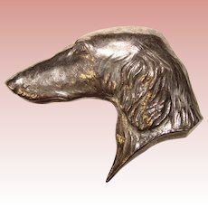 Fabulous STERLING Borzoi Dog Bond Boyd Signed Vintage Brooch - Russian Wolfhound