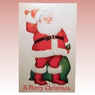 Antique Jolly SANTA CLAUS Christmas Postcard