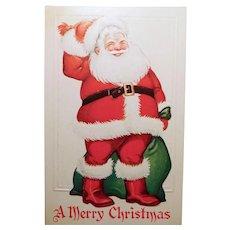 Antique Jolly SANTA CLAUS Christmas Postcard