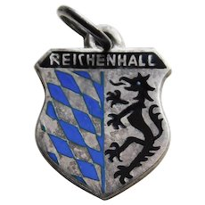 Reichenhall 920 Silver & Enamel Vintage Estate Charm - Souvenir of Germany