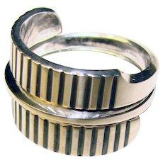 Fabulous TONE VIGELAND Sterling Norway Signed Modernist Design Vintage Ring