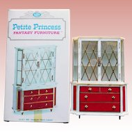 Doll House Treasure Trove Cabinet - 1960s Petite Princess Fantasy Furniture Ideal Original Box