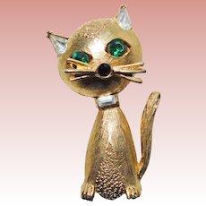 Sassy CAT Signed Pell Vintage Brooch