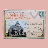 1920s OGDEN Postcard Folder - Souvenir of Utah