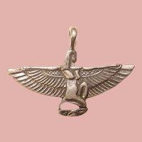 Fabulous STERLING Isis Egyptian Design Vintage Pendant